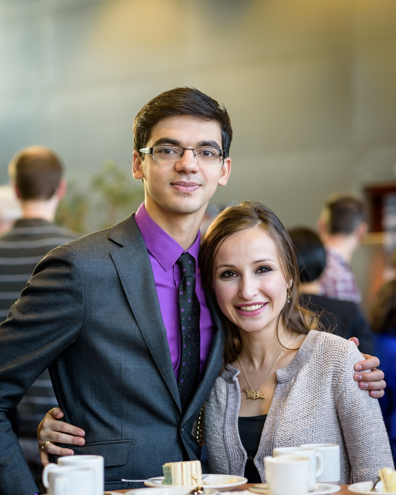 Anish Giri and his wife,WGM Sopiko Guramishvili