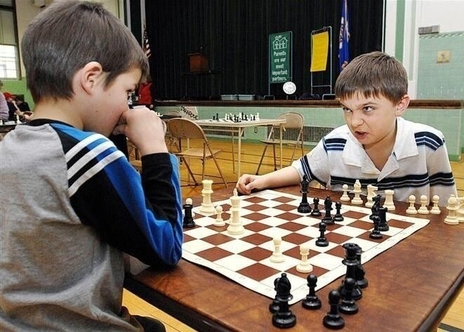Frightening face in Chess